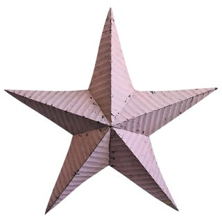 Large Pink Barn Metal Star