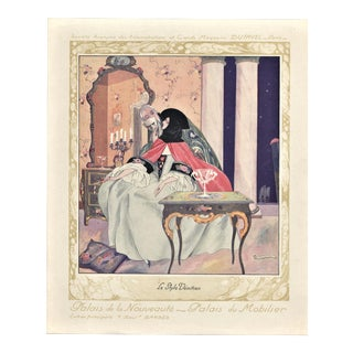 Art Deco Fashion-Interior Deco lithograph-Venetian