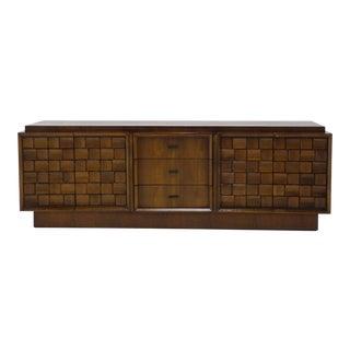 Mid-Century Brutalist Solid Walnut Credenza/Sideboard