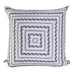 Image of Vintage Silk White Bandana Pillow