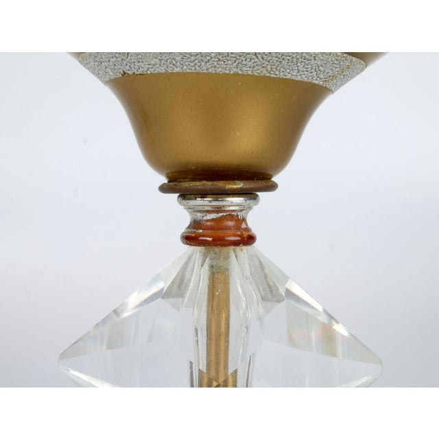 Image of Italian Crystal & Marble Table Lamp