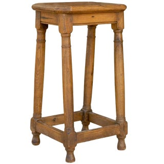 French Four Legged Pegged Stool or Pedestal from the Late 19th Century