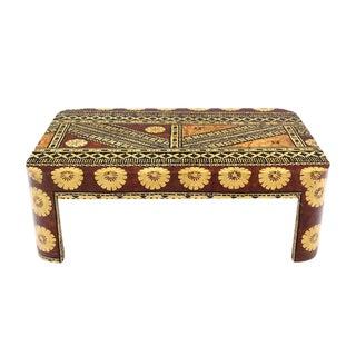 Large Mid-Century Modern Decorated Art Decoareted Coffee Table