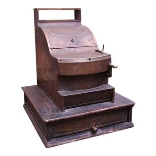 Vintage Bronze St. Louis Cash Register