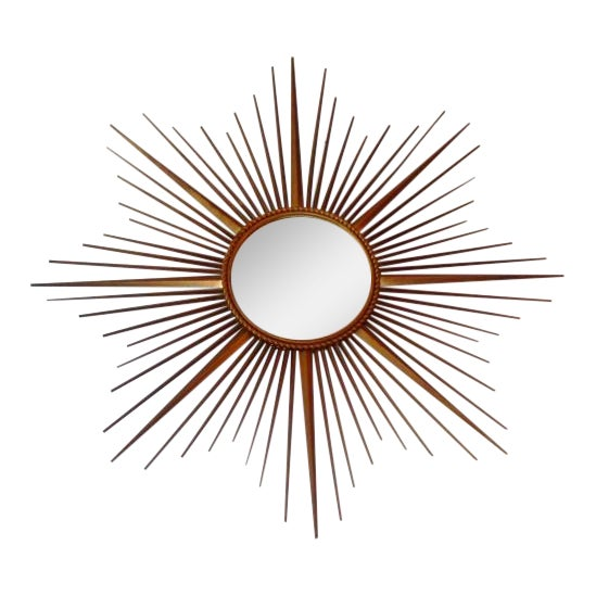 Vintage Chaty Vallauris French Sunburst Mirror - Image 1 of 6