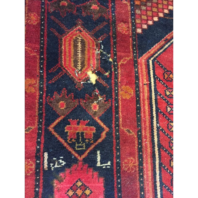 """Vintage Hand Knotted Turkish Rug - 4'11"""" x 8'11"""" - Image 7 of 10"""