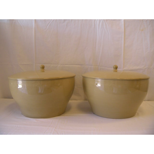 Image of Large Lidded Urns - a Pair