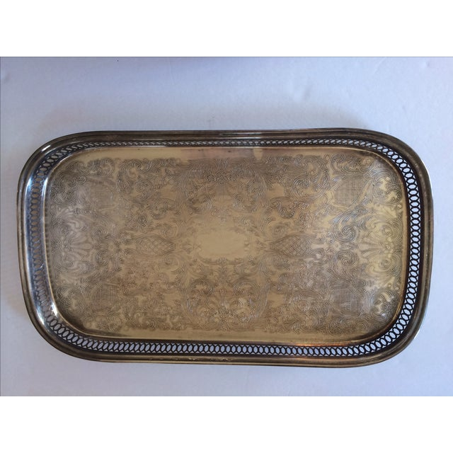 Image of Silver Gallery Rectangle Tray