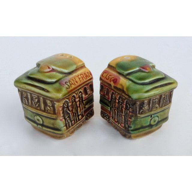 Image of Vintage San Fransisco Cable Car Salt & Pepper Shakers