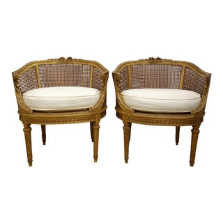 19th Century Hand Carved & Gilded Chairs - A Pair