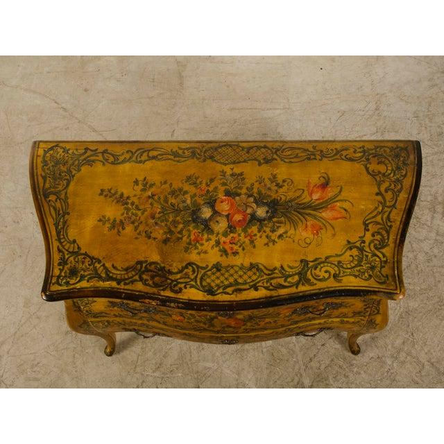 Italian Louis XV Rococo Style Antique Painted Bombè Chest circa 1885 - Image 9 of 10