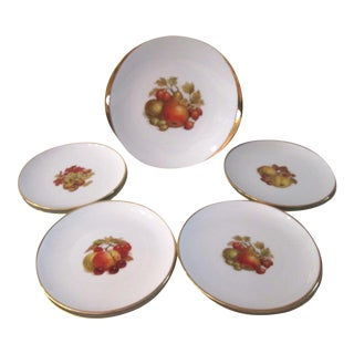 Vintage Harvest Fruit Plates & Platter - 9 Pieces