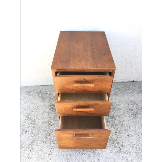 Image of Mid-Century Walnut Wood Cabinet