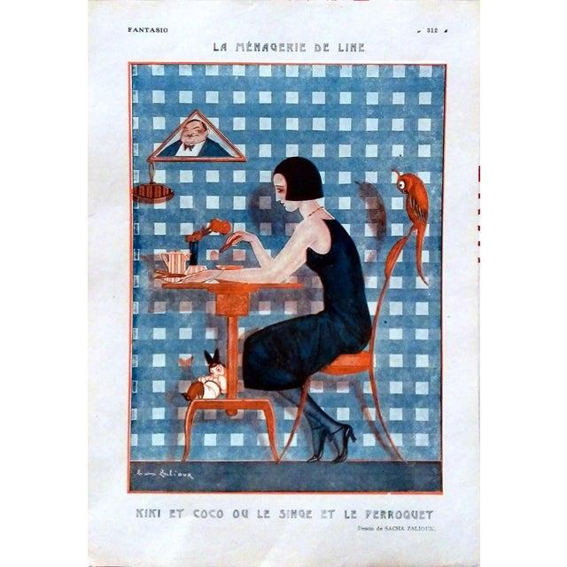"1922 Fantasio ""Kiki et Coco"" Print by Sacha Zaliouk - Image 1 of 4"