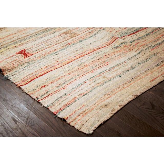 "Apadana - Cotton Turkish Kilim Rug - 6'6"" x 10'6"" - Image 2 of 2"