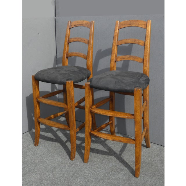 Minton Spidell French Country Black Bar Stools - Image 5 of 11