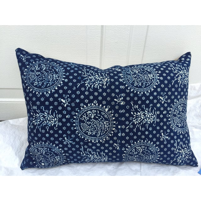 Indigo Batik Pillows- A Pair - Image 3 of 6