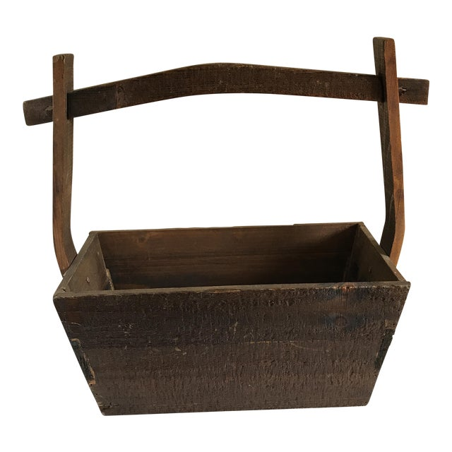 Primitive Rustic Wood Box - Image 1 of 11