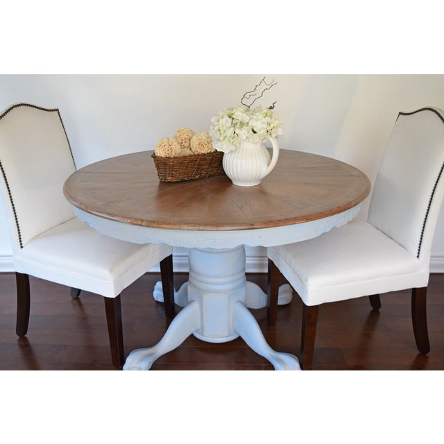 Chalk Painted French Country Dining Table - Image 7 of 7