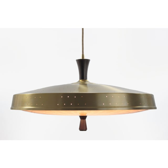Classic 50s Pendant With Murano Glass Shade - Image 4 of 6