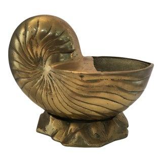 Oversized Brass Nautilus Shell