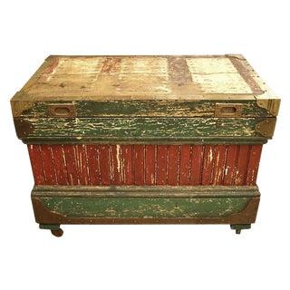 19th Century Rare Crafted Wood Tool Box