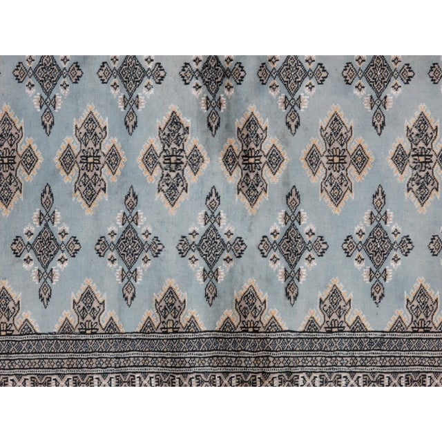 "Leon Banilivi Blue Royal Bokara Rug - 4'1"" X 6' - Image 6 of 7"