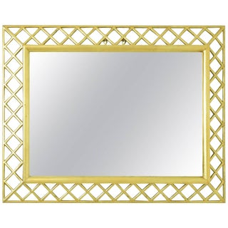 Italian Gilt Wood Lattice Frame Mirror