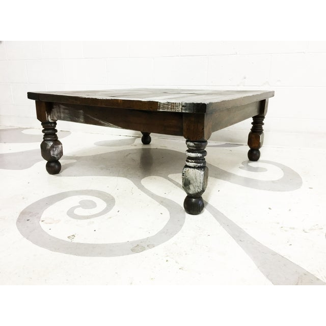 Vintage Mexican Hand Painted Pine Coffee Table - Image 3 of 7