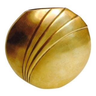Dolbi Cashier Vintage Brass Art Deco Style Vase