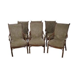 Acacia Home & Garden Rattan Arm Chairs - Set of 6