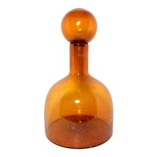 Holmegaard Style Art Glass Vase