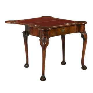 George II Carved Walnut Card Table