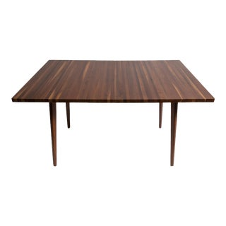 Vintage Mel Smilow Strip Walnut Dining Table with 2 Leaves & 6 chairs