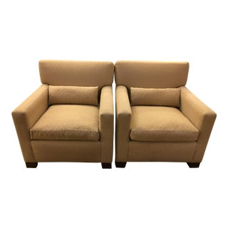 Sutter of Cali Fabric Arm Chairs - A Pair