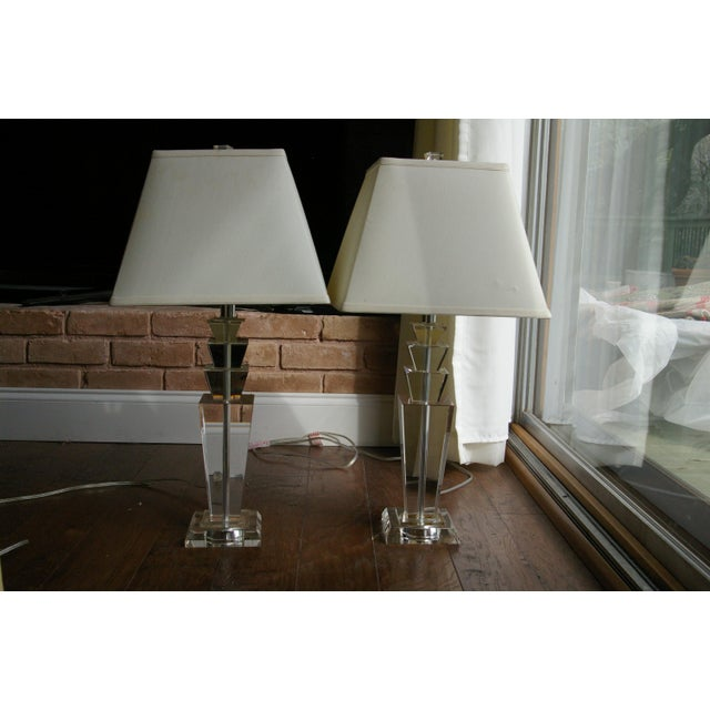 Image of Restoration Hardware Crystal Table Lamps - A Pair