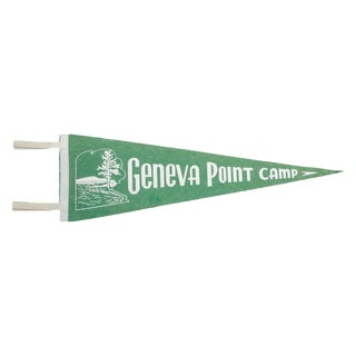 Vintage Geneva Point Camp Felt Flag Banner