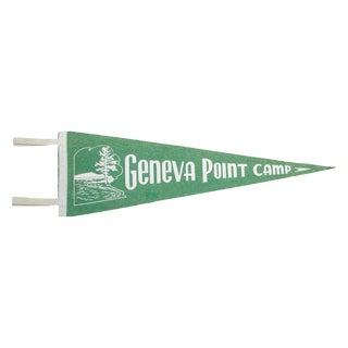 Vintage Geneva Point Camp Felt Flag Banner