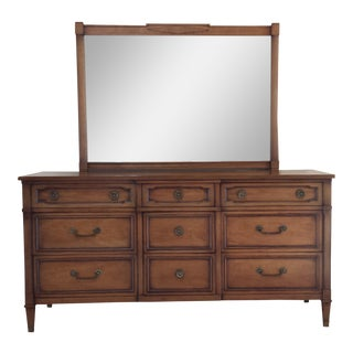 Drexel Truine Mahogany Dresser & Mirror