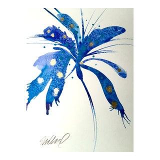 """""""Blue Pin"""" Original Watercolor Painting"""