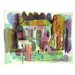 Abstract House Watercolor