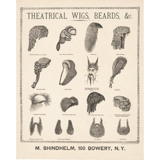 1800's Wigs and Beards Print