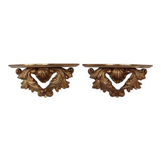 Gilted Wall Brackets - A Pair