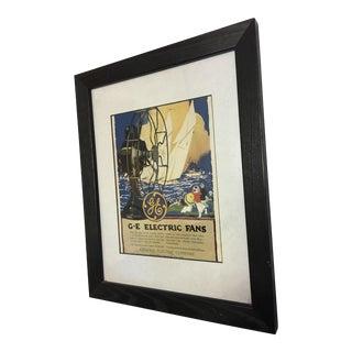 Framed Original GE Electric Fan Advertisement