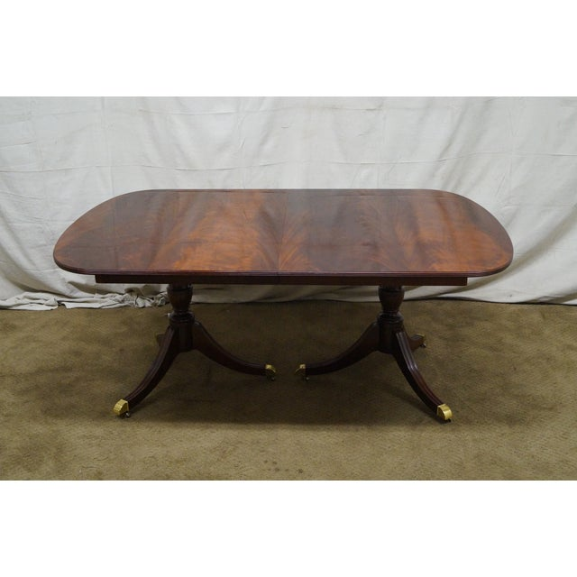 Kindel Flame Mahogany Duncan Phyfe Dining Table - Image 2 of 9