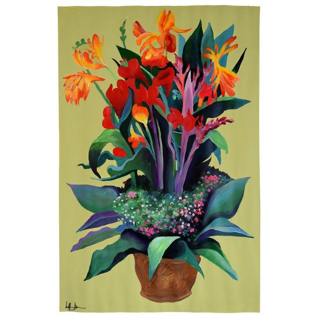 Image of Pot De Fleurs Acrylic Painting