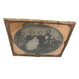Daguerrotype Copper Framed Family Portrait