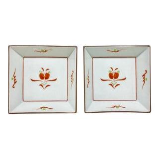 Vintage Japanese Artisan Plates - a Pair