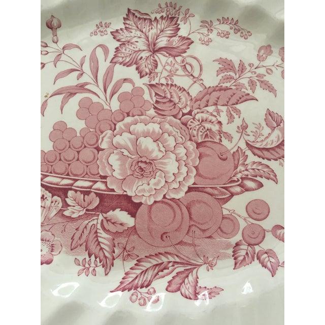 Pink Transfer-Ware English Platter - Image 4 of 5