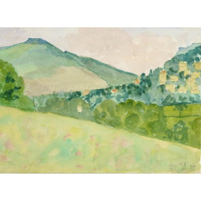 "English Watercolor Painting, ""Nun Hill"" - Image 2 of 3"